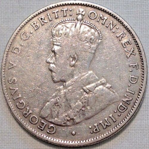 very Nice 1934 Australian Silver TWO Shilling Florin TWO BOB KING GEORGE V