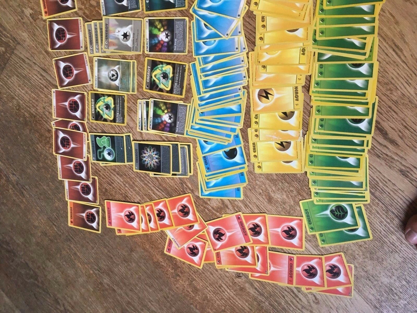Original Energy Pokemon around 200 Cards Simple And Rare Rare Rare Earth Water Fire & More 194f71