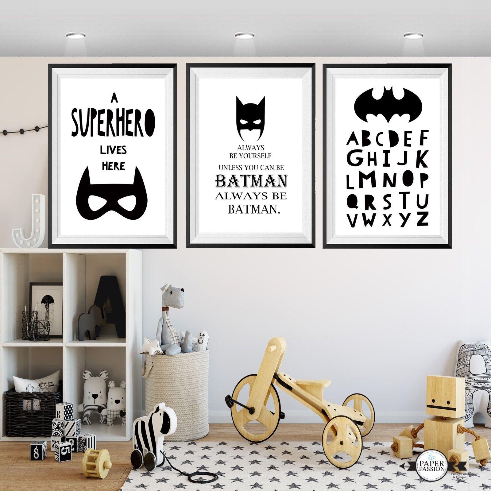 Batman wall prints,Superhero wall prints, Boys wall prints,Batman Nursery prints