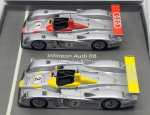 Minichamps-1-43-Scale-Model-Car-01219-Audi-Infineon-2-Piece-Set-Le-Mans-2001