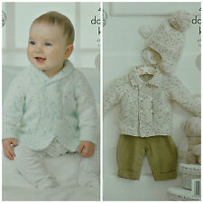 Baby & Toddler Clothing Pink With Pink & White Lace Hand Knit Matinee Jacket Cardigan 0-3 Months Online Discount