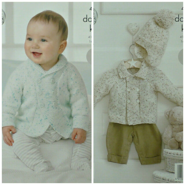 Baby Jacket Hat For King Cole Smarty Dk Yarn Knitting Pattern 4318