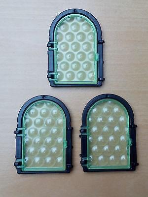 Rahmen für Ritterburg Fachwerkhaus Playmobil 4 x Butzenfenster Butzenscheibe