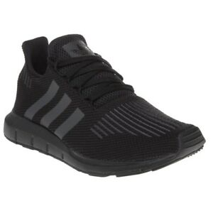 new product 68376 972c7 Image is loading New-BOYS-ADIDAS-BLACK-SWIFT-RUN-TEXTILE-Sneakers-