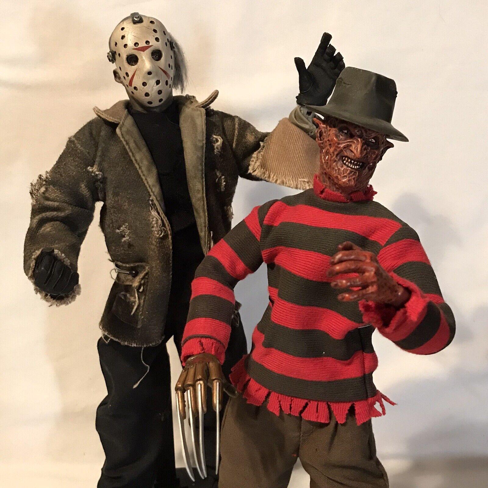 "2004 Sideshow Collectibles Freddy VS Jason Krueger 12"" Figure Set Of 2x Horror on eBay thumbnail"