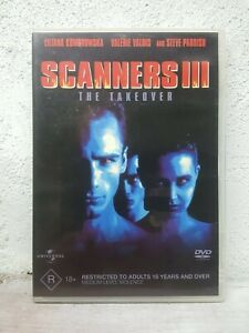 Scanners-3-III-DVD-The-Takeover-1991-Steve-Parrish-Rare-Sci-fi-Movie-R4