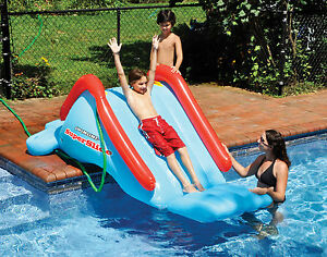 Swimline 90809 swimming pool backyard poolside super slide - Swimming pools in liverpool with slides ...