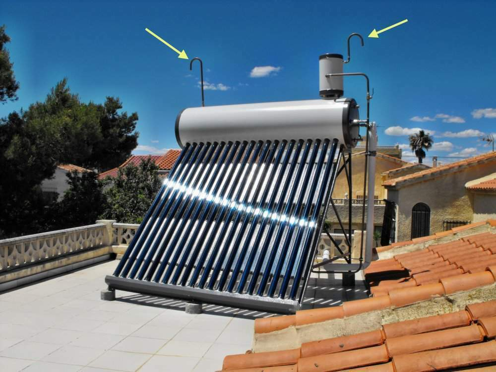 Solarheater Thermosifon Durchlauferhitzer Prinzip, 280l