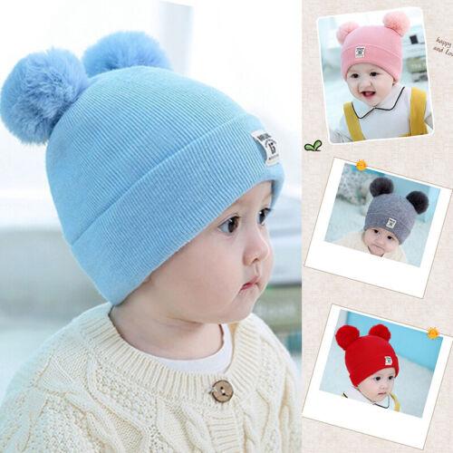 Newborn Toddler Kid Girl/&Boy Baby Infant Winter Warm Crochet Knit Hat Beanie Cap