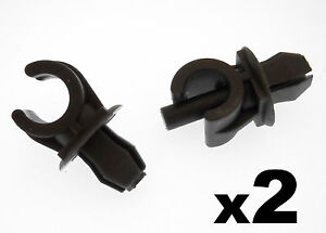 2x-VW-Black-Plastic-Bonnet-Stay-Holder-Clips-Clips-to-hold-Bonnet-Support-Rod