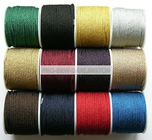 4mm-Braided-Lacing-Cord-Choice-Of-17-Colours-amp-Length