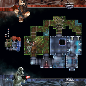 Star Wars Imperial Assault Training Ground Skirmish Map Game Playmat