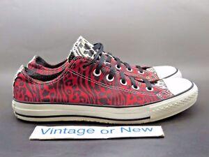 961f0cf98da3 Converse Red Chuck Taylor All-Star Ox Low Zebra Red White Black ...