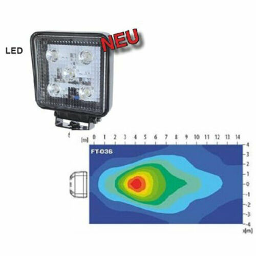 LED-Arbeitsscheinwerfer 1200 Lumen 12-24 Volt top 5 LEDs