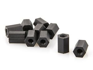 M3x10mm-Nylon-Hex-Standoff-Black-10pc