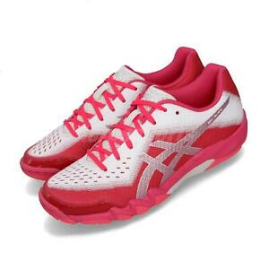 Detalles acerca de Asics Gel-Blade 6 Pink Silver White Women Badminton  Volleyball Shoes R753N-700