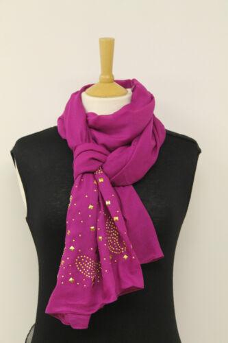 Onorevoli BELLE ORO MULTI STUD NOZZE Sciarpa Lunga l/'hijab sciallato Wrap REGALO