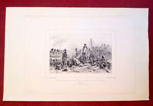 Lithographie-originale-Waterloo-Raffet-ed-freres-Gihaut-XIXe