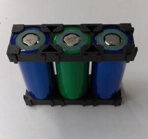80-pc-26650-Battery-1x3-Cell-Spacer-Radiating-Shell-Plastic-Holder-Bracket-Clip