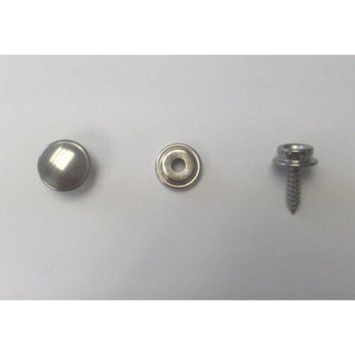 "/& #10 3//8/"" Screw Stud Kit 5 sets DOT Stainless Steel Snap Fastener Cap Socket"