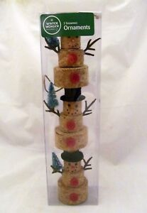 Wine Cork Christmas Tree.Details About Winter Wedding Winery Wine Cork Snowman Holiday Christmas Tree Ornament Gift Set