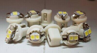 per cruscotto 10 lampadine LED per auto 5050 12 V B8.3D luci laterali T5 W3 W