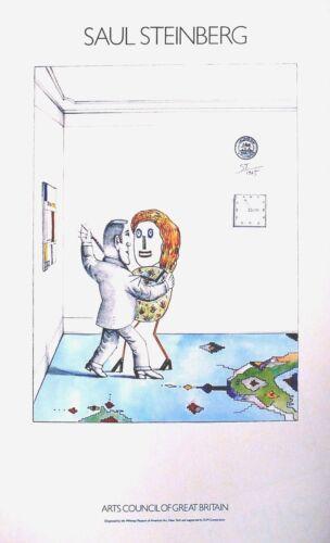 ARTS COUNCIL OF GREAT BRITAIN  ORIGINAL POSTER  1979 SAUL STEINBERG