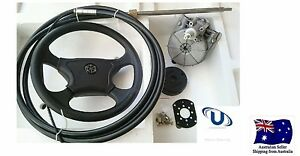 NEW-3-65m-12FT-UNIVERSAL-BOAT-STEERING-WHEEL-SYSTEM-QUICK-CONNECT-STEERING-KIT