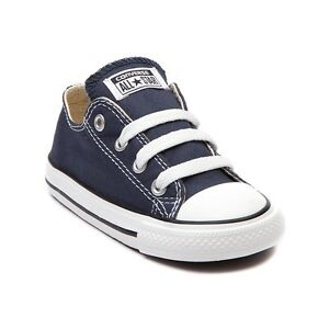 b958f8c9aa3 Converse All Star Low Chucks Infant Toddler Navy Canvas Shoe 7J237 ...