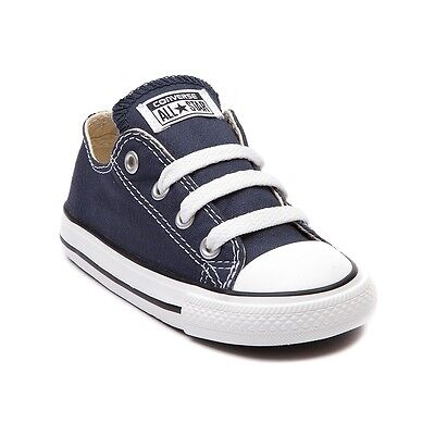 Converse All Star Low Chucks Infant Toddler Navy Canvas Shoe 7J237 FreeShipping | eBay