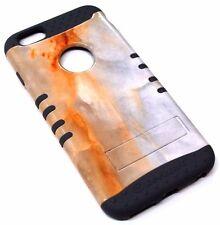 for iPhone 6 6S PLUS Marble Stone Design Gray Rubber Hybrid Koolkase Skin Case