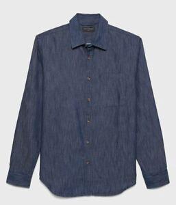 Men-039-s-Banana-Republic-Slim-Fit-Cotton-TENCEL-Chambray-Shirt-Size-Medium-or-Large
