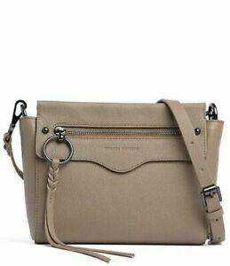 NWT-Rebecca-Minkoff-Gabby-Leather-Crossbody-Shoulder-Bag-Sandrift-Taupe-Brown