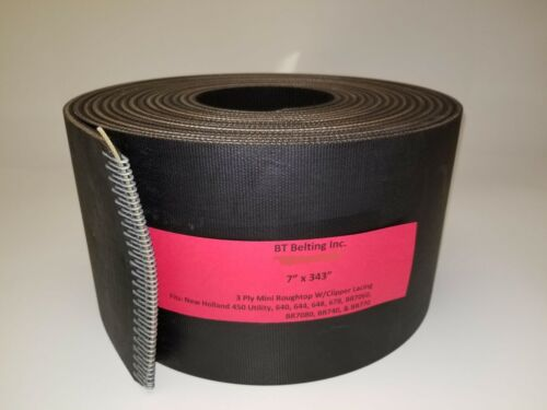 New Holland BR740 Silage 740A Round Baler Belt Set 3 Ply Mini Roughtop Clipper