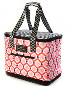 SCOUT-for-Mackenzie-Childs-IKAT-PINK-Insulated-Cooler-BOAT-TOTE-Picnic-Bag-m19-2