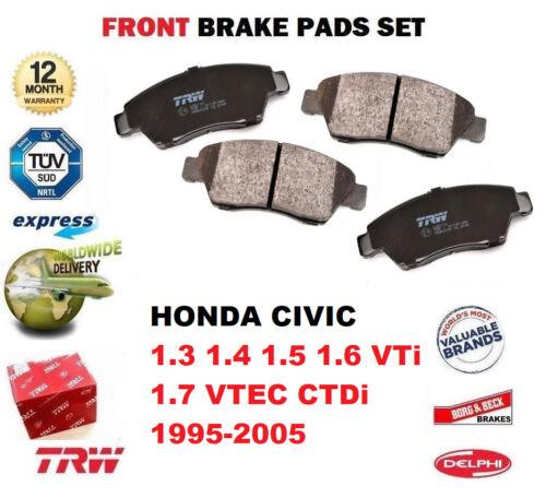 FOR HONDA CIVIC 1.3 1.4 1.5 1.6 VTi 1.7 VTEC CTDi 1995-2005 FRONT BRAKE PADS SET