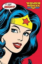 WONDER WOMAN ~ NO TIME FOR NAUGHTY 24x36 COMIC ART POSTER DC NEW/ROLLED!