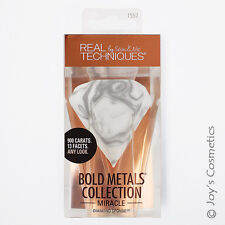"""1 REAL TECHNIQUES Miracle Diamond Sponge Bold Metals Collection """"RT-1552""""*Joy's*"""