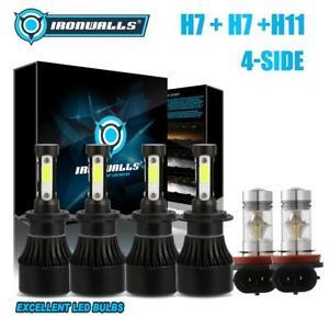 For-Benz-GL320-2007-09-B200-06-11-Combo-H7-H7-H11-LED-Headlight-Fog-Bulbs-4-Side