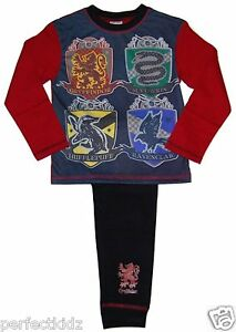 492d4f4434 Image is loading Boys-Harry-Potter-Pyjamas-Quidditch-Hogworts-House-Teams-