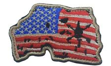BATTLE WORN DISTRESSED FLAG USA MAP Airsoft Biker Motorcycle Morale Hk/Lp Patch