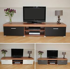 Prime Details About 2 Metre Large 2 Door Tv Cabinet Plasma Bench Stand Unit Black Walnut Grey White Uwap Interior Chair Design Uwaporg