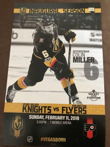 Philadelpha Flyers Misprint Game Poster Vegas Golden Knights vs Philadelphia