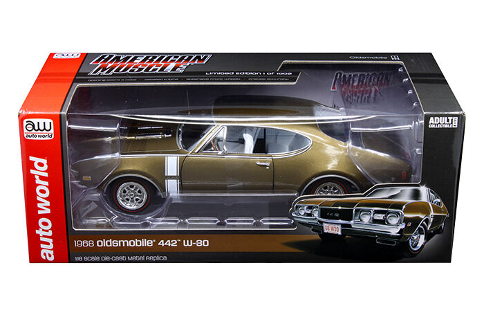 Auto World 1 18 American Muscle 1968 Oldsmobile 442 W-30 Diecast voiture AMM1084
