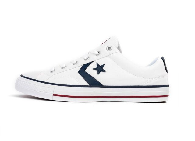 Converse Trainers Star Player Ox 144151c White 8 for sale online  c558a9685