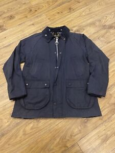 Men-s-Barbour-Navy-Bedale-SL-Japan-Wax-Jacket-Large-RARE