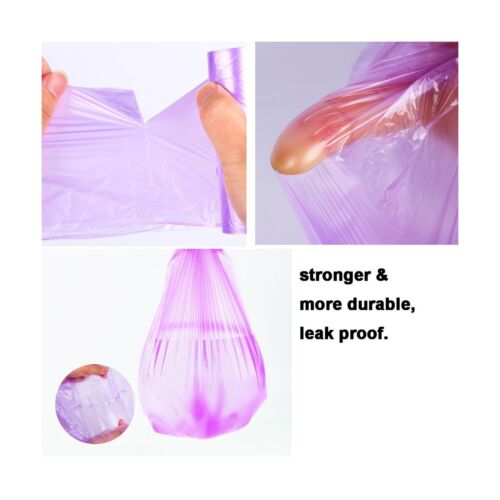 2 Gallon Trash Bags Wastebasket Liners 150 Counts Small Colored Plastic Bags...
