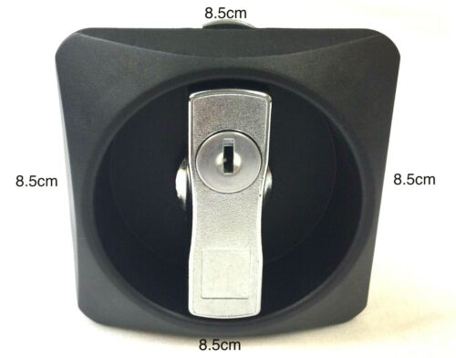 Heavy Duty Cabinet Lock fits 72mm square hole With 2 Keys Straight Cam