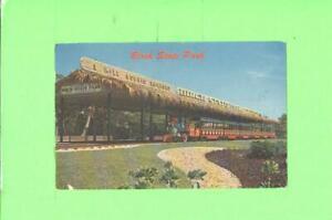 F-POSTCARD-BIRCH-STATE-PARK-IN-FLORIDA-MINI-TRAIN-RIDE-POST-CARD