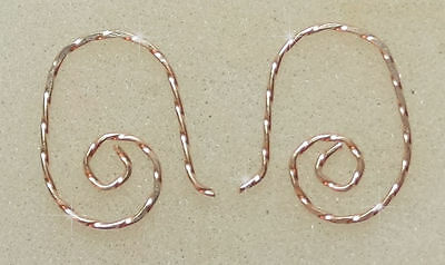 Small TWISTED Wire INTERCHANGEABLE Earring Wires 12K Yellow Gold Filled